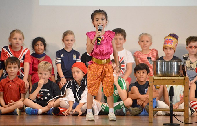 Lower Primary Assembly: Friends Around the World by 2MD and 2SM