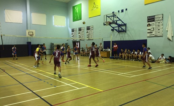 British International School, HCMC, U14 Boys Volleyball Against AIS 2017