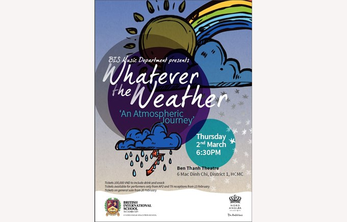 British International School HCMC presents a Whole School Concert entitled Whatever the Weather.