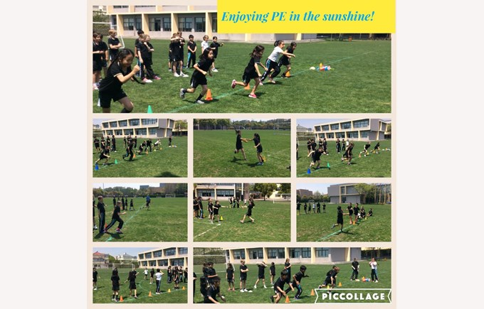 Year 4 enjoying PE in the sunshine