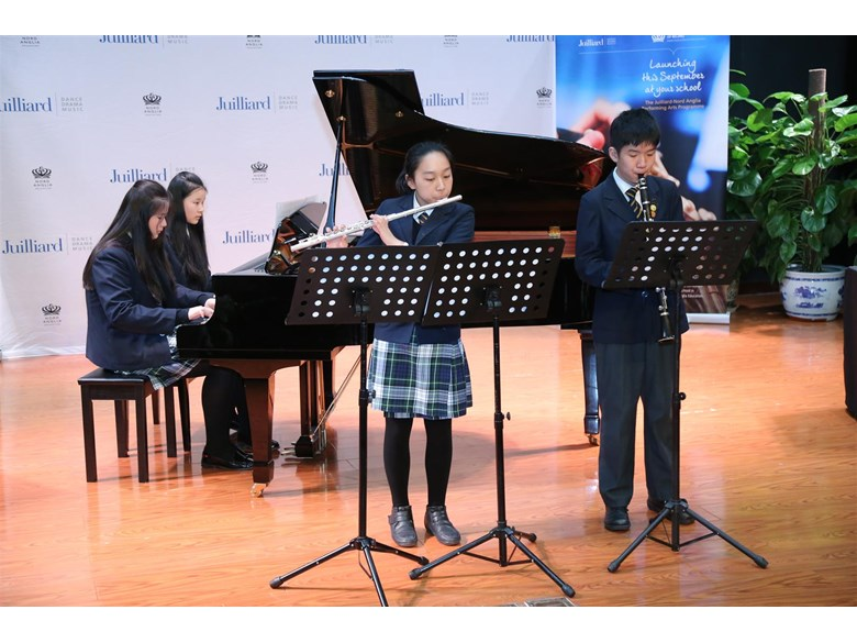 "Y8 quartet performed ""March Militaire"" by Schubert (Large)"