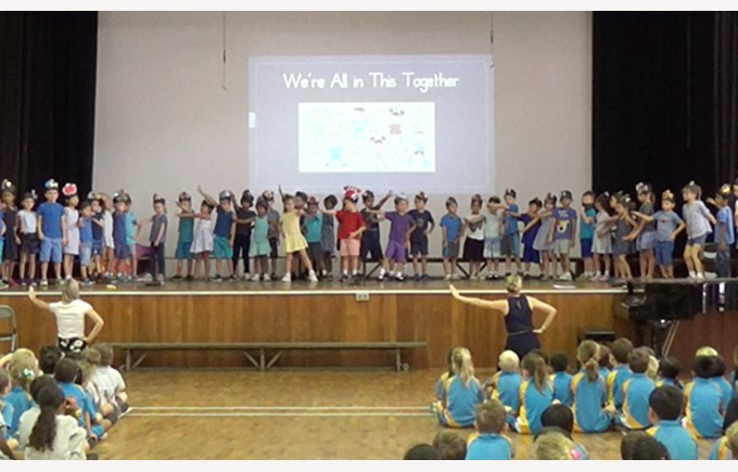 Celebrating World Kindness Day at Lower Primary Assembly