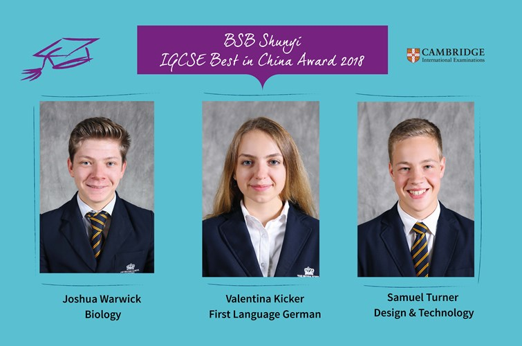 IGCSE Best in China 2018