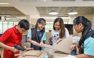 Students participating in STEAM activities