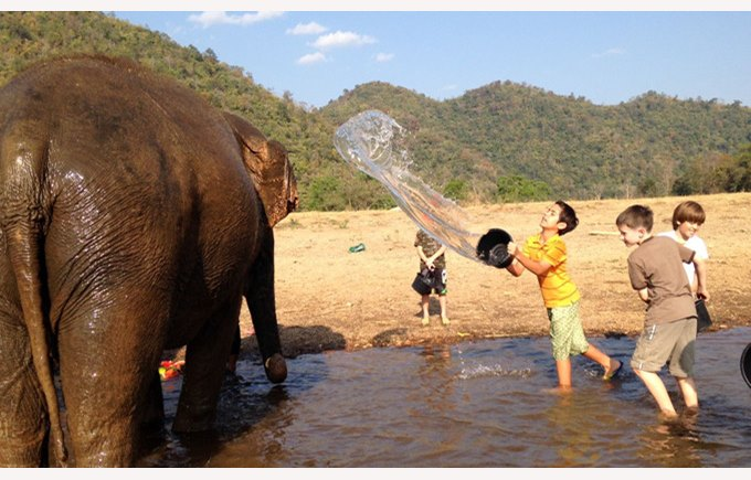 Boarding and day students at the Elephant Nature Park | Regents International School Pattaya