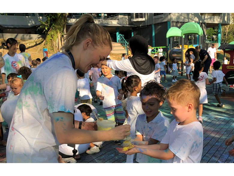 Dover Court International School Singapore, EYFS celebrates Holi