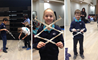 Year 5 and 6 students at the British School Shanghai make 'extendable grabbers' with their parents