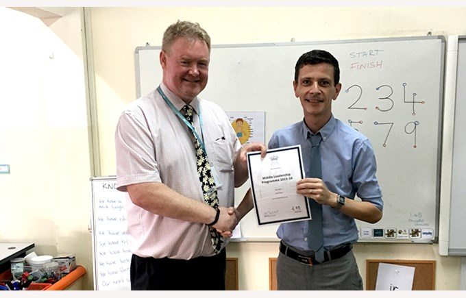 Mr Cairns finishes Middle Leadership Programme