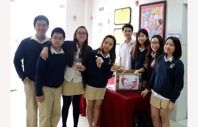BVIS Hanoi students with Connecting the Heart