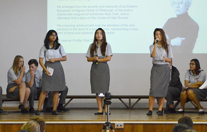 Creativity, Activity, Service (CAS) at Secondary School Assembly