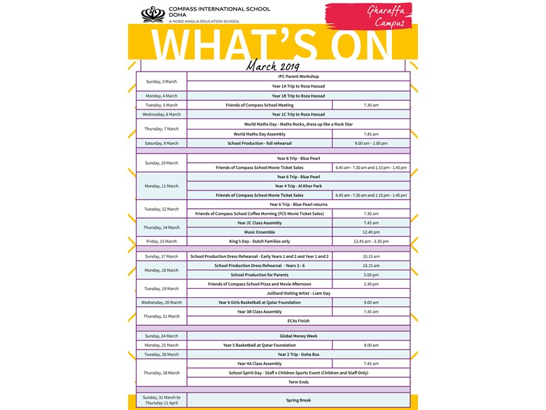 Gharaffa What's on in March