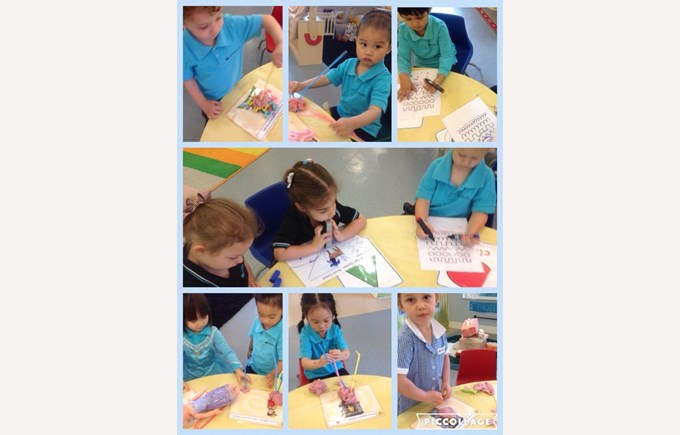 Developing our fine motor skills in Pre-Nursery 2