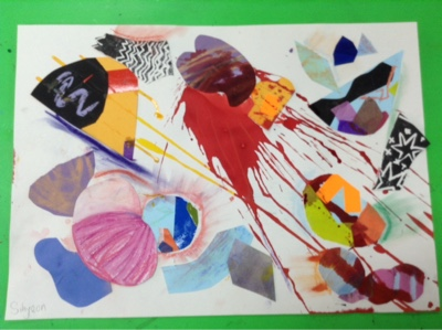 AP1 Abstract Art with Year 6