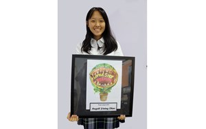 Yining Zhao (Angeli) Year 9 with winning poster 540x329
