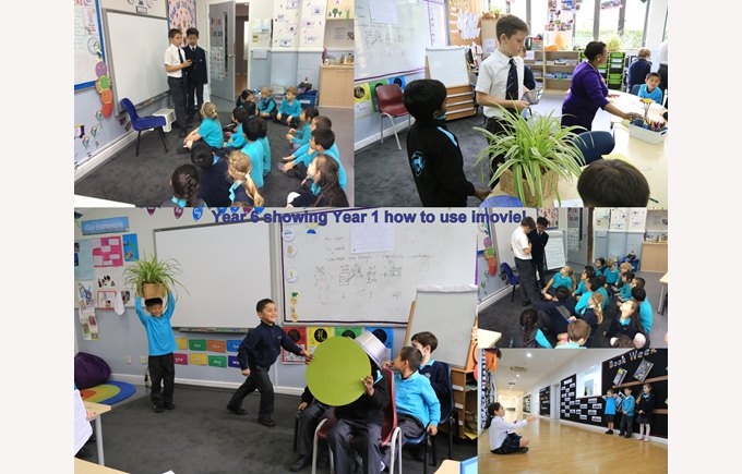 Year 1 being taught by Year 6!