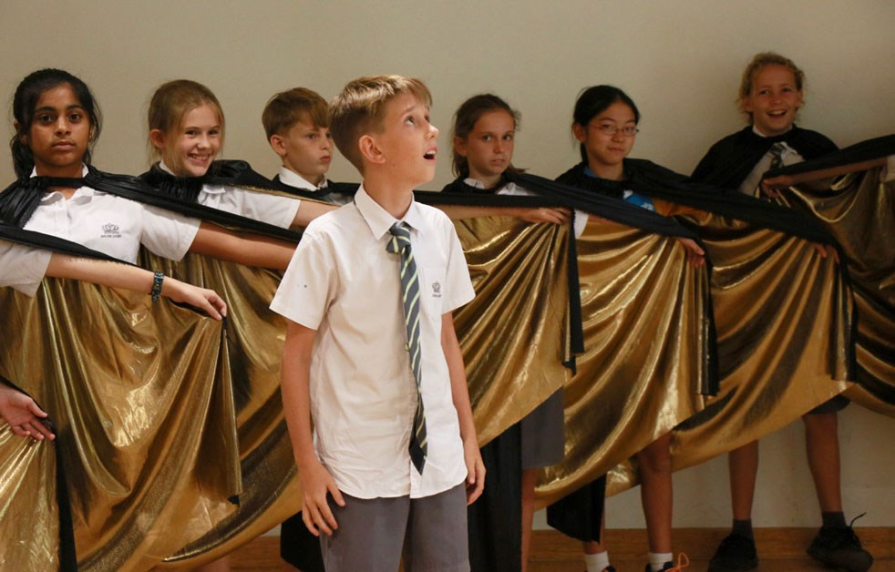 Dover Court International School Singapore Arabian Nights Rehearsal