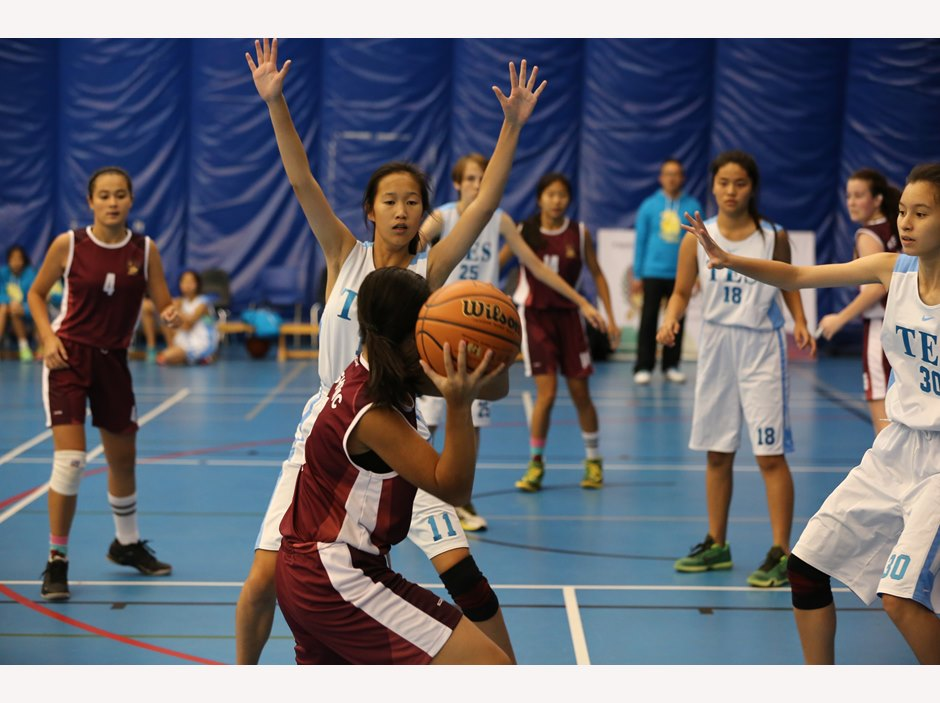 Female Basketball competition at FOBISIA U15 Games 2015