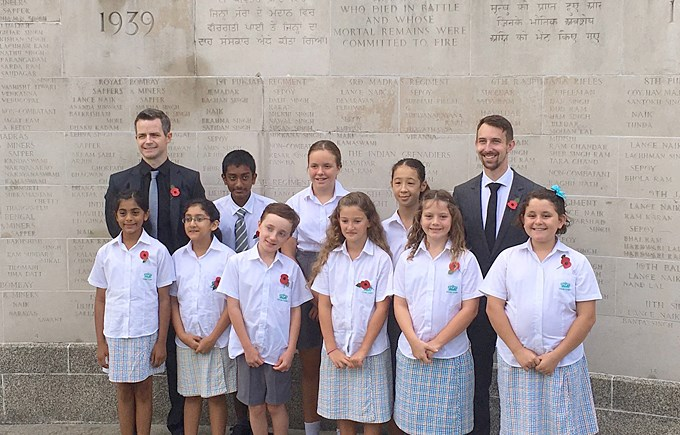 DCIS Students Perform at Remembrance Service