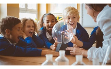 stock primary kids science