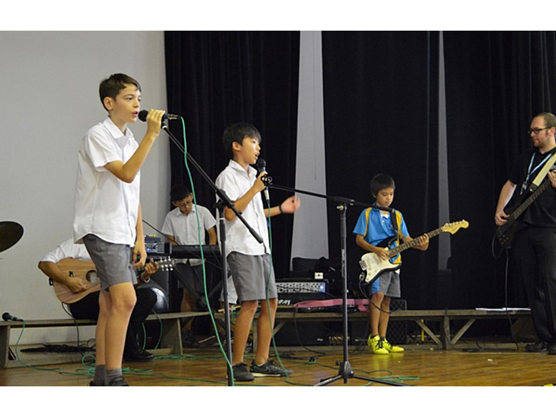 Music Performances at Secondary School Assembly
