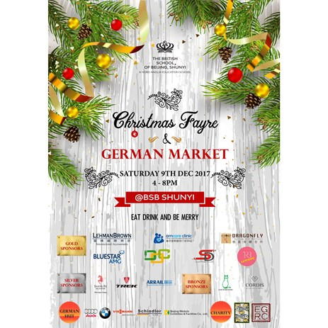 2017 Christmas Fayre poster with logos V1 540x329