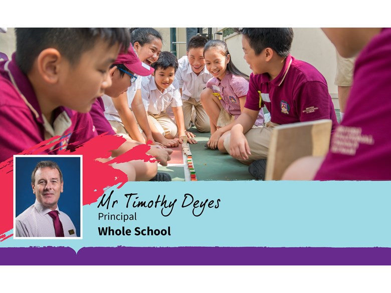 Update from the Principal of British International School HCMC, Mr Tim Deyes.