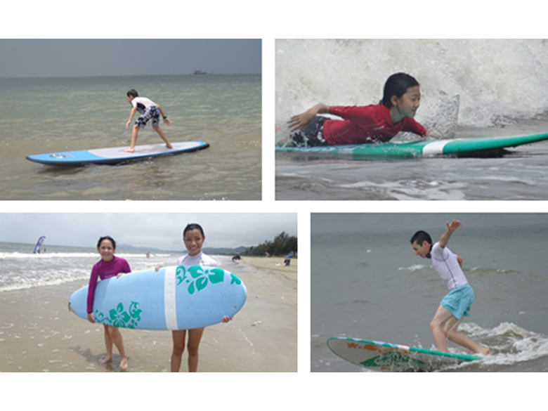 Year 7 learning to surf