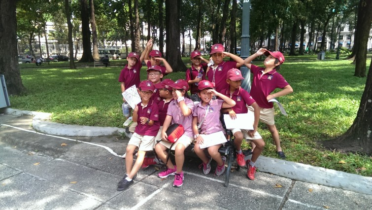 An Phu Primary from the British International School, Ho Chi Minh City take part in the Amazing Race Sagion.
