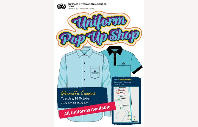 Gharaffa Uniform Pop Up Shop