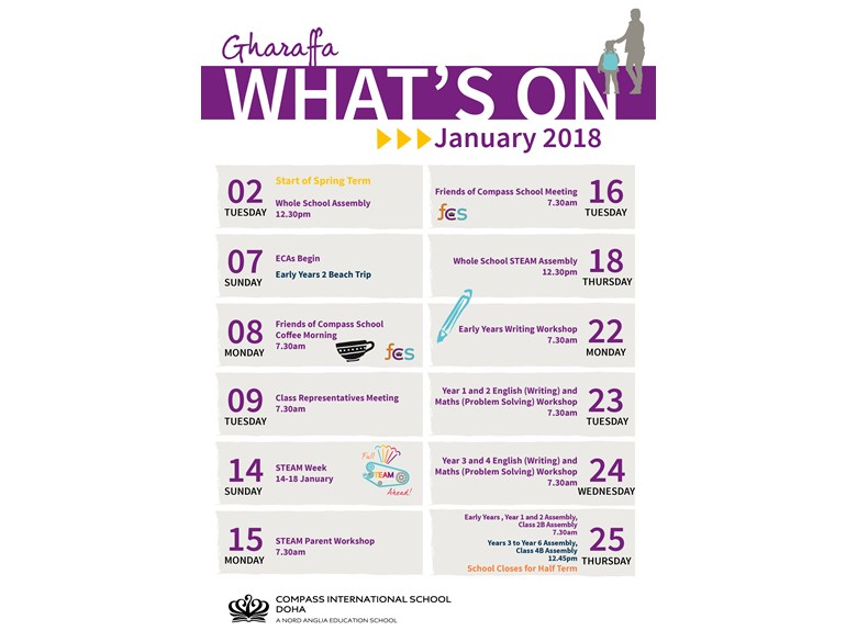 Gharaffa What's on January 2018