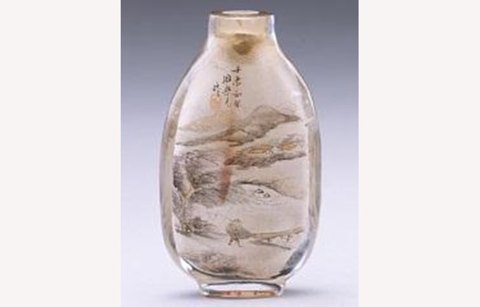 Chinese Painting in Glass bottle