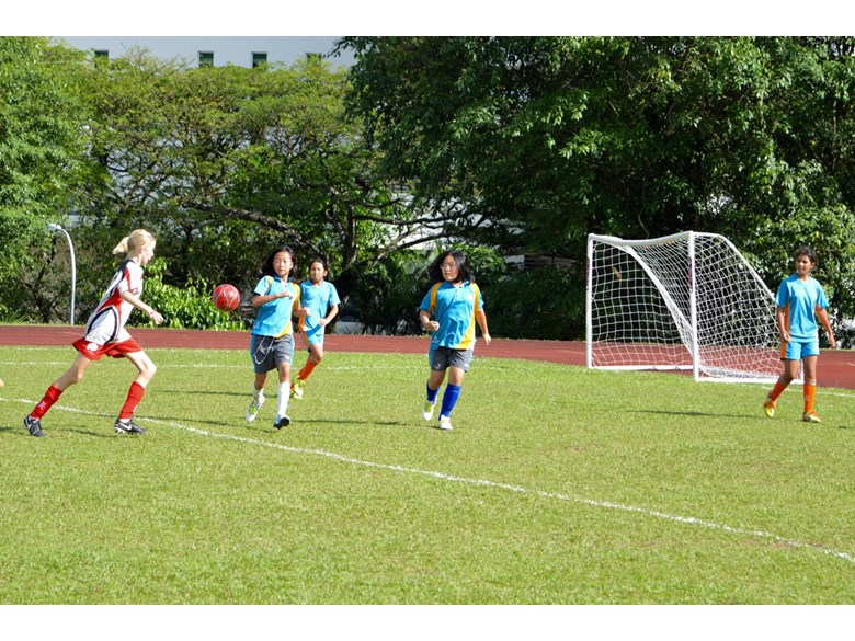 U12 Girls Football Match