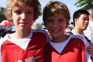 Two students at BBGV Fun Run