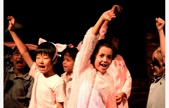 A performance of Wilbur and the Pig