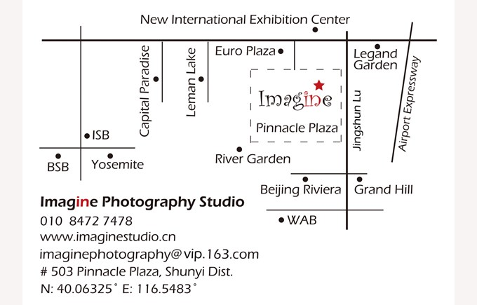 Imagine Photography Studio Map
