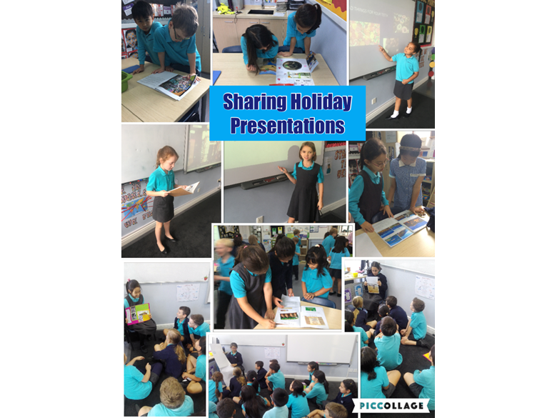 Sharing holiday presentations in Year 4