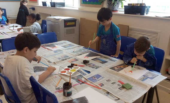 Y3 volcano painting