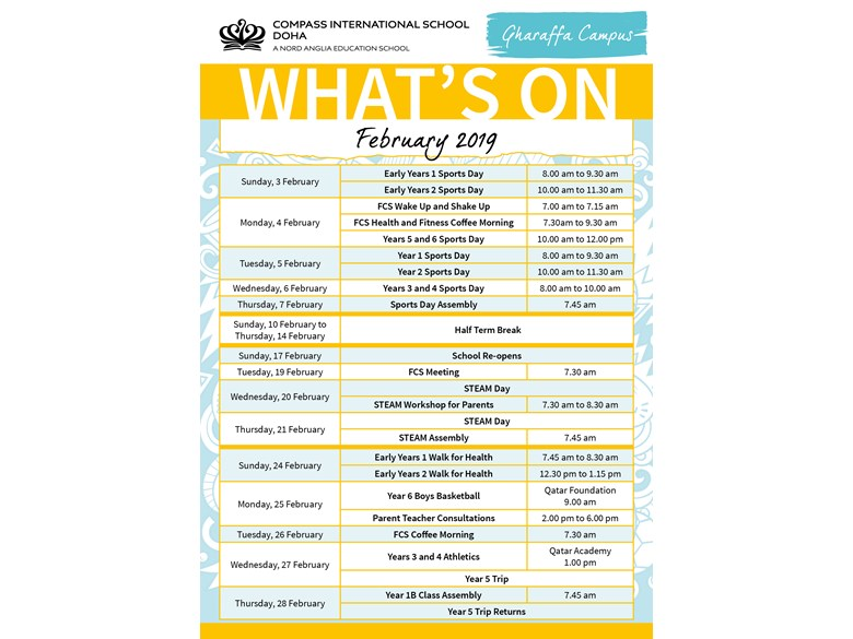 Gharaffa What's on in February