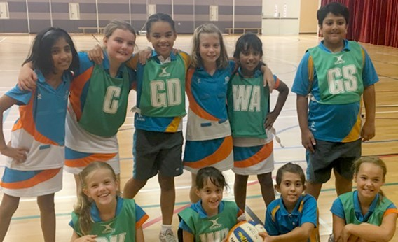 DCIS Under 10 Netball Team