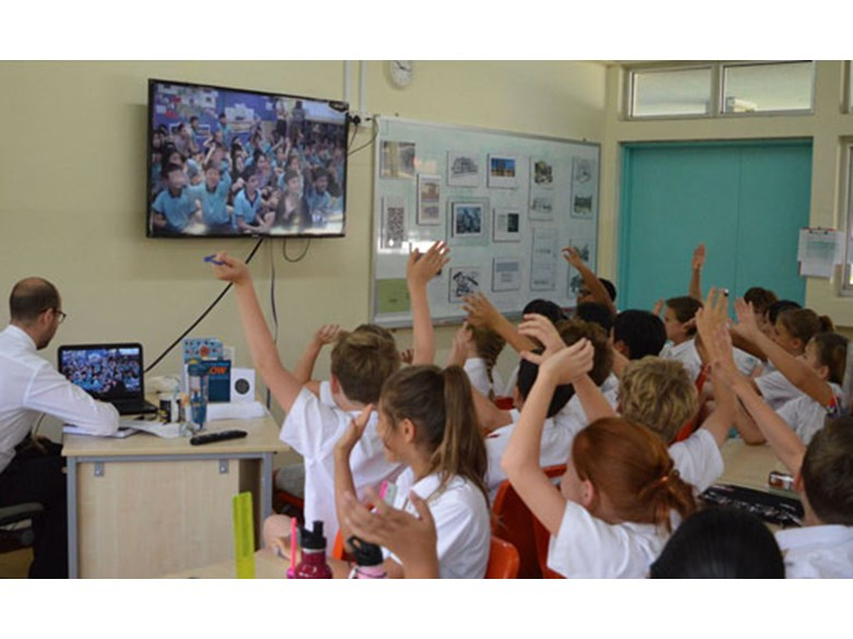 Year 6 skyped with Nord Anglia School Hong Kong