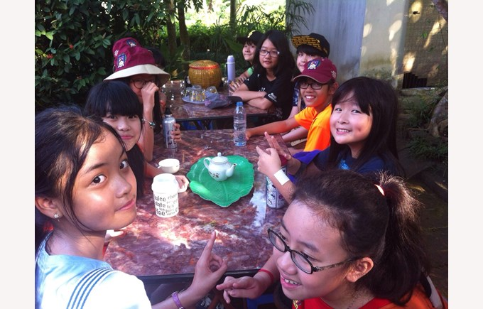 British International School Hanoi year 7 Ba Vi trip 2014