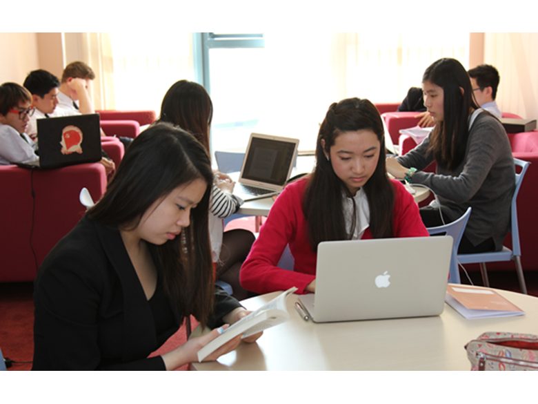 BISS Puxi students revising for their IB exams