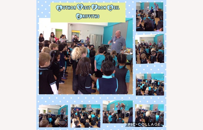 Reception spend time with author Neil Griffiths