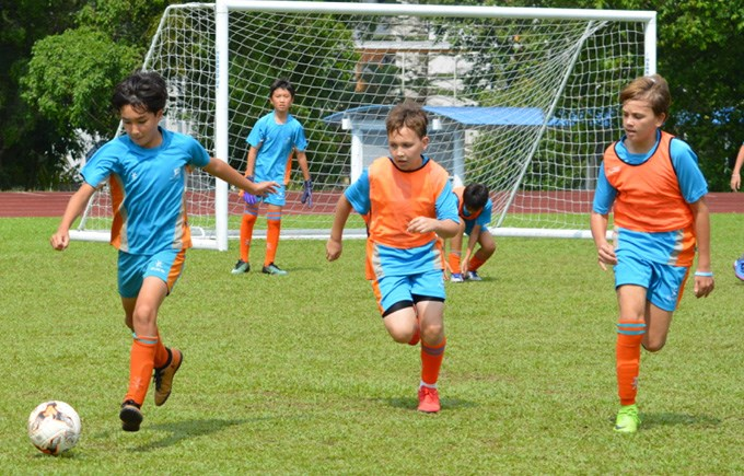 Under 12 A and B  Football Teams Play Each Other in ACSIS Fixture