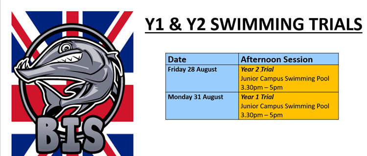 Y1&Y2 Swimming trials