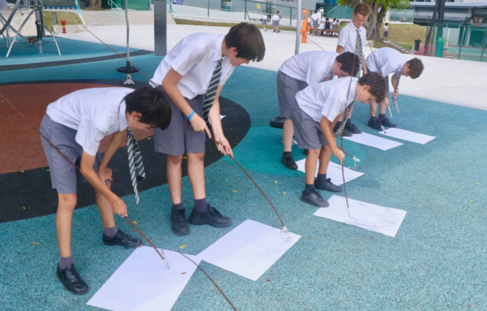 Year 7 Drawing with Sticks
