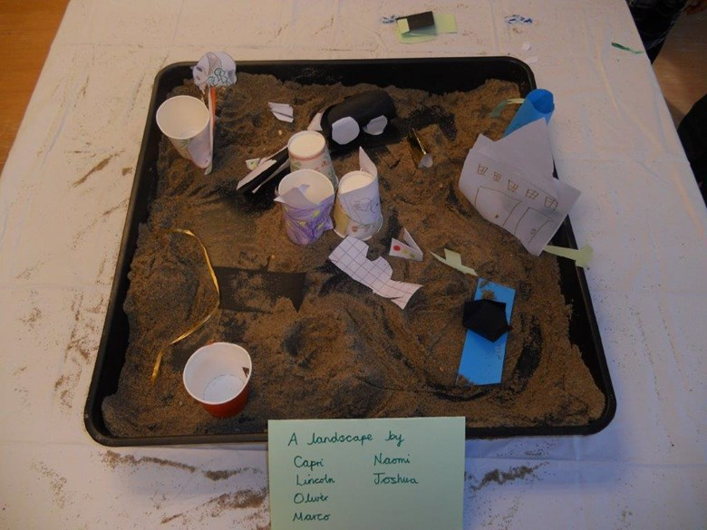 Sandpit students used to create a map.