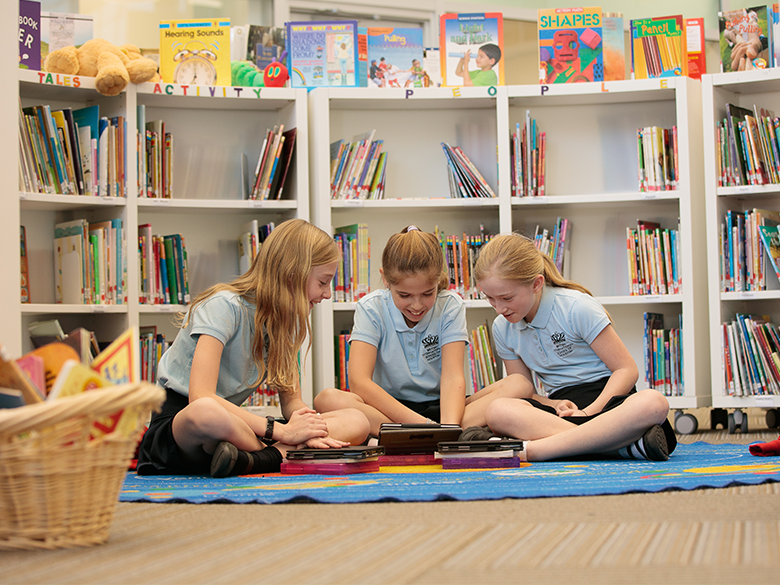 Pupils in library
