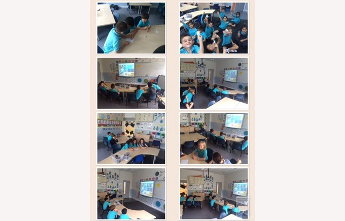 Year 2 practising their observation skills