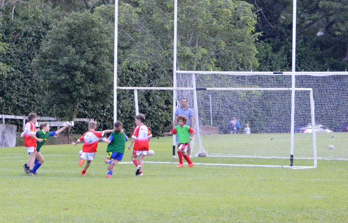 DCIS Students at Singapore Gaelic Football Tournament